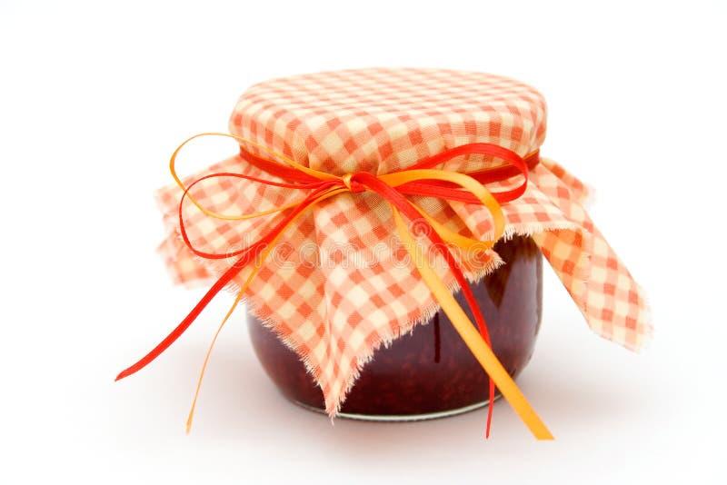 Raspberry jam stock photo