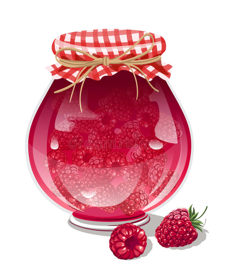 Raspberry jam stock illustration