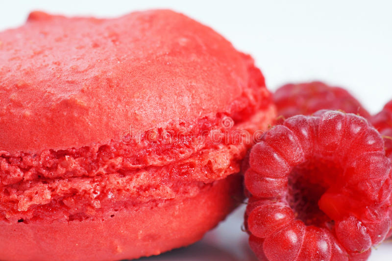 Raspberry Macaroon Royalty Free Stock Images