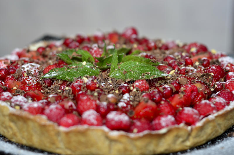 Raspberry pie stock images