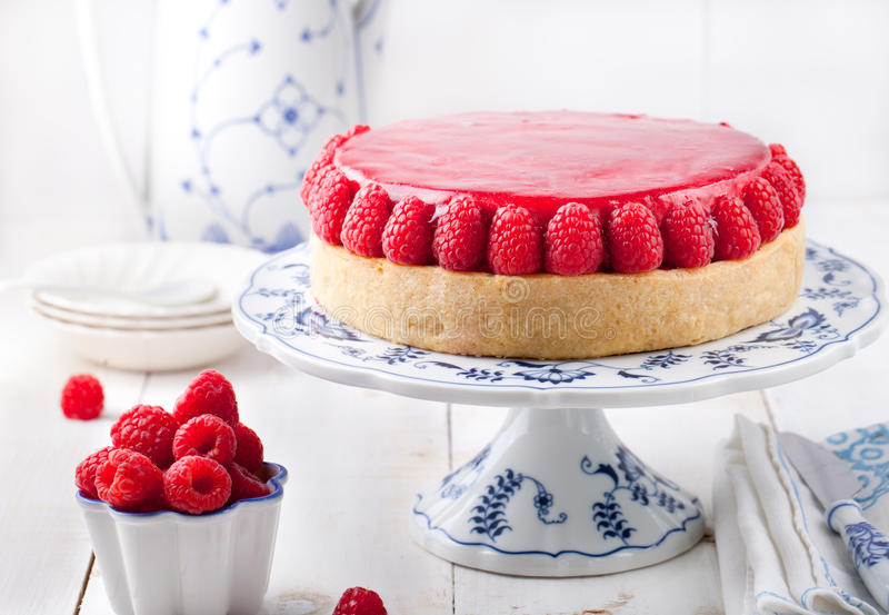 Raspberry and roast bell pepper mousse cake, cheesecake chili stock image