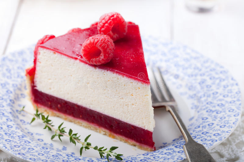 Raspberry and roast bell pepper mousse cake, cheesecake chili stock images