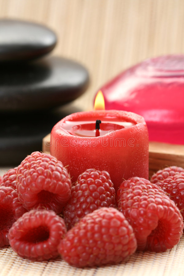 Raspberry spa stock photo