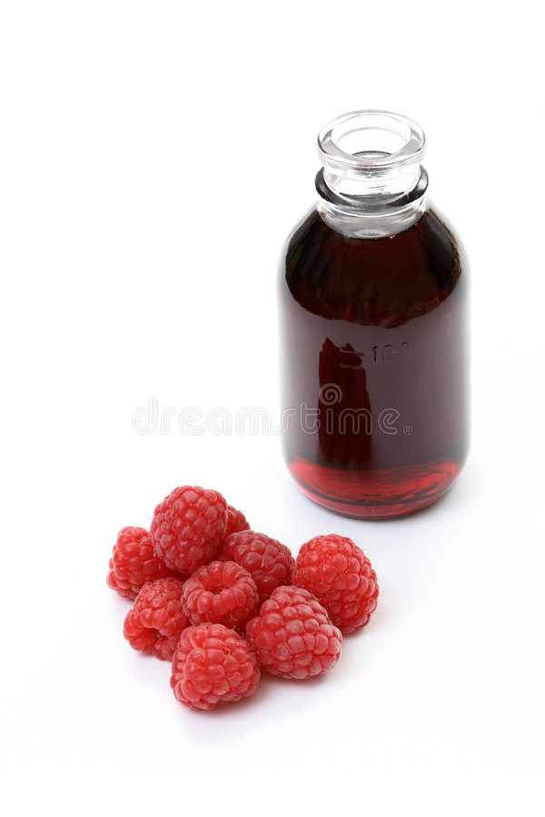 Raspberry syrup stock photography