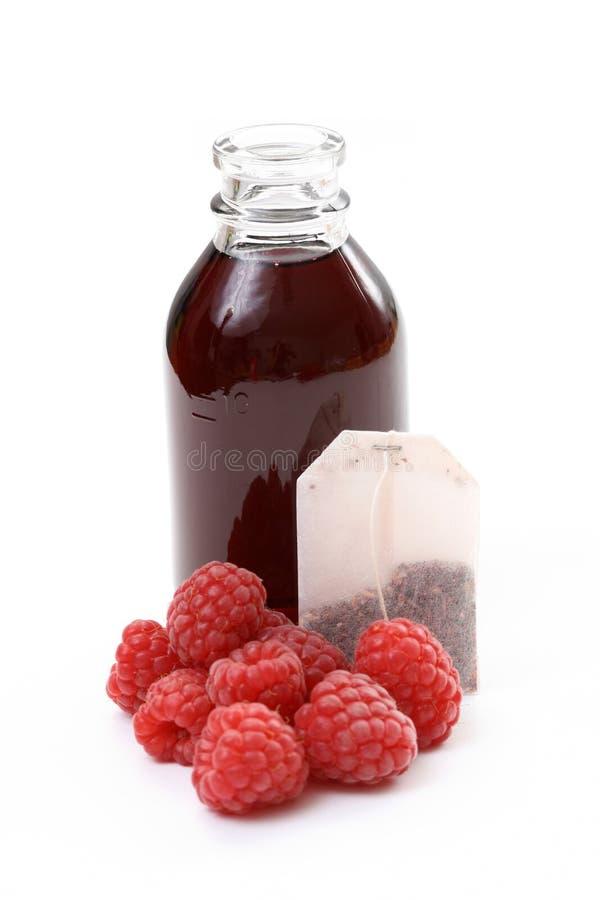 Raspberry syrup stock photos