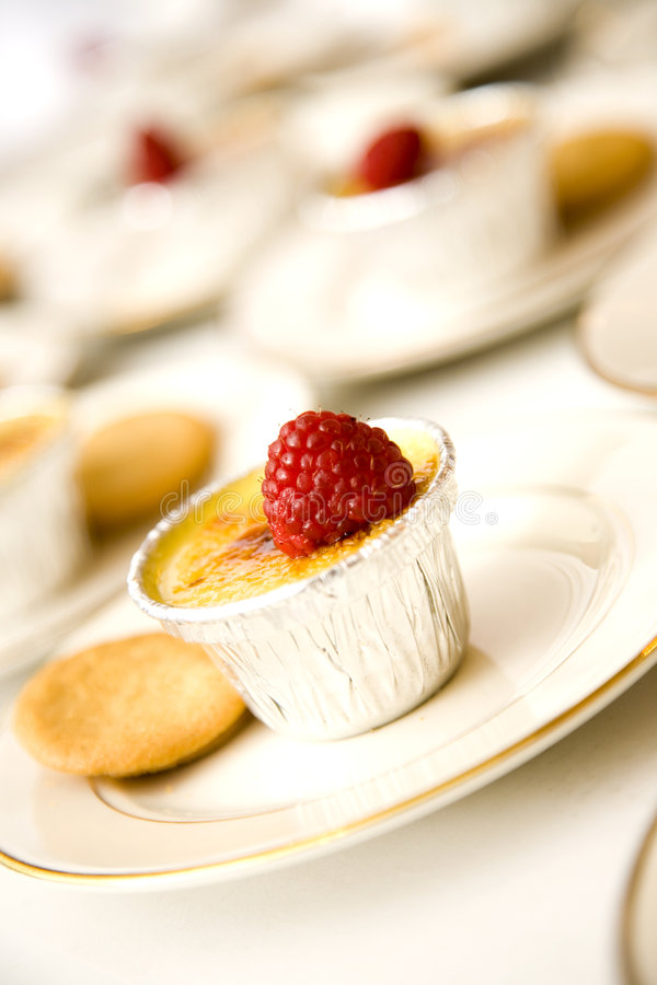 Download Raspberry Topped Creme Brulee Stock Image - Image: 2172059