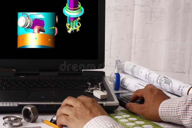 rassegna di modello 3D illustrazione di stock