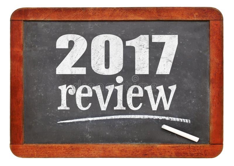 rassegna 2017 sulla lavagna fotografie stock