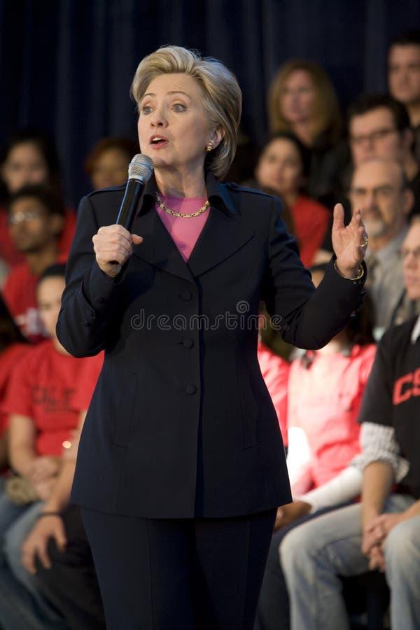 Rassemblement 7 de Hillary Clinton image libre de droits