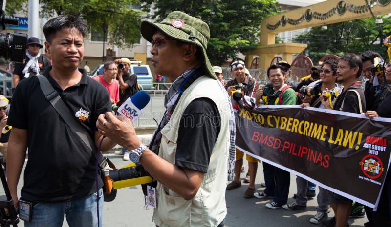 Rassemblement anti-gouvernement de photographes photo stock