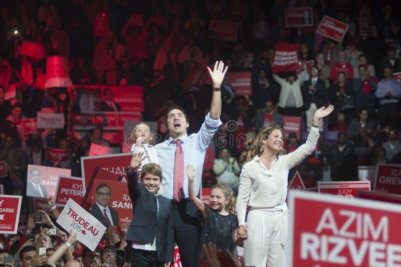 Rassemblement d'élection de Justin Trudeau photos libres de droits