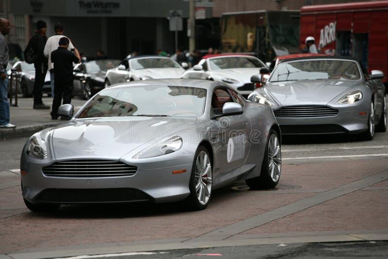 Rassemblement d'Aston Martin à San Francisco photos stock