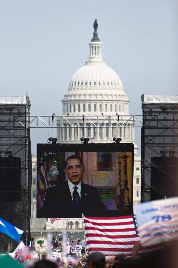 Rassemblement d'immigration à Washington photo libre de droits