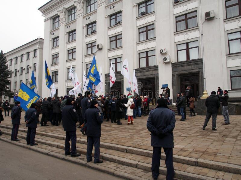 Rassemblement d'opposition dans Lugansk photos libres de droits