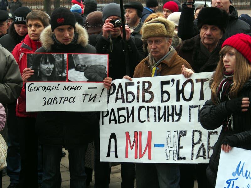 Rassemblement d'opposition dans Lugansk photographie stock