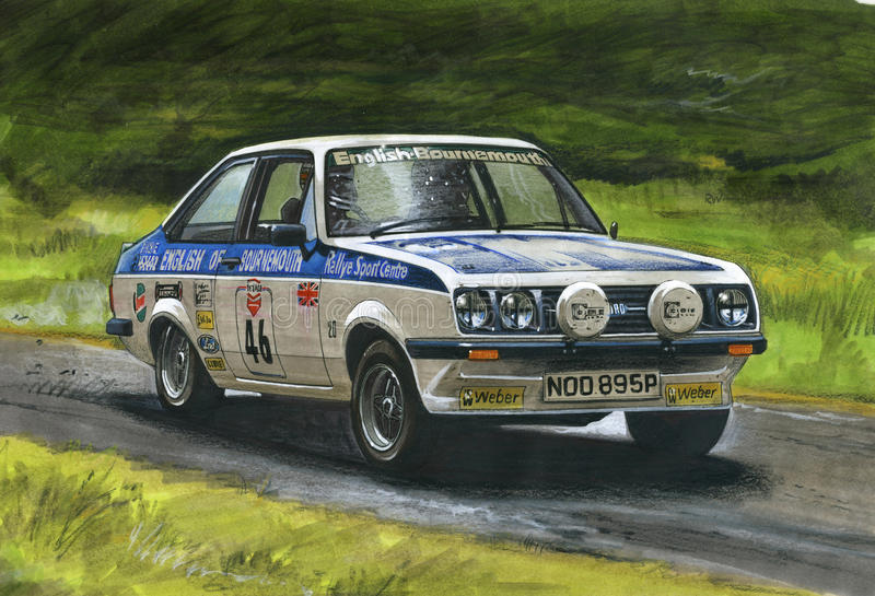 Rassemblement de Ford Escort MkII RS2000 illustration libre de droits