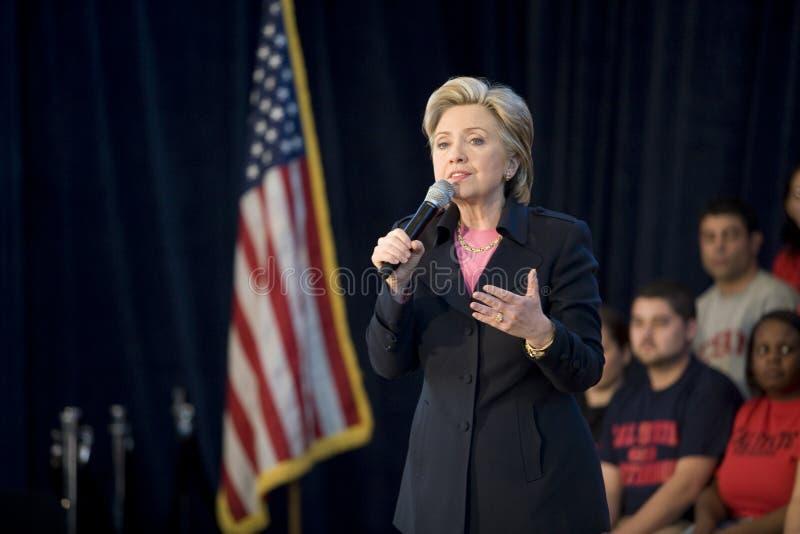 Rassemblement de Hillary Clinton photographie stock