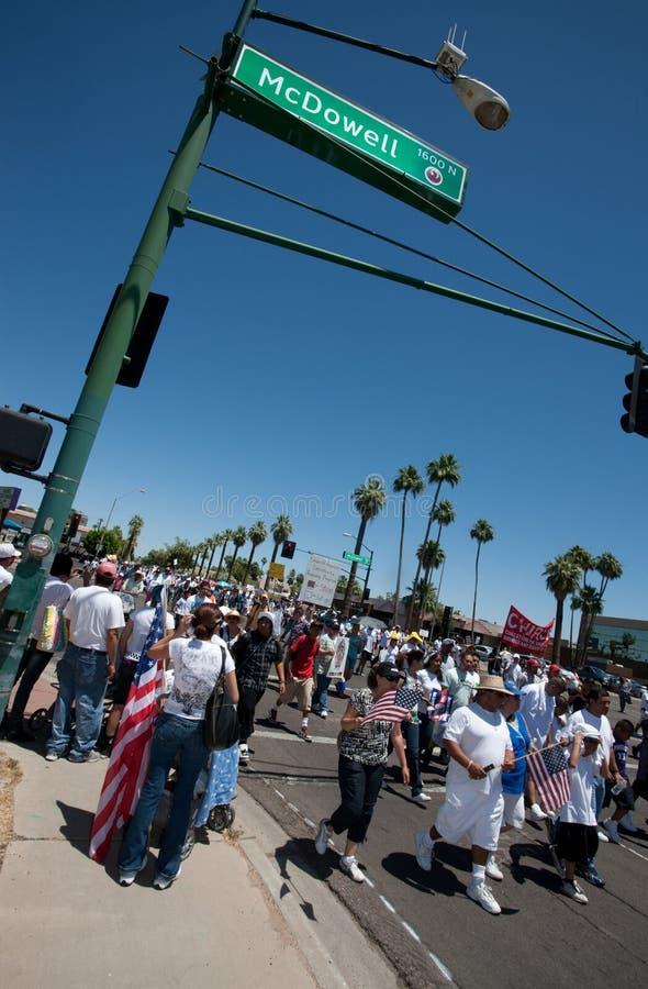 Rassemblement de protestation de l'immigration SB1070 de l'Arizona photos libres de droits