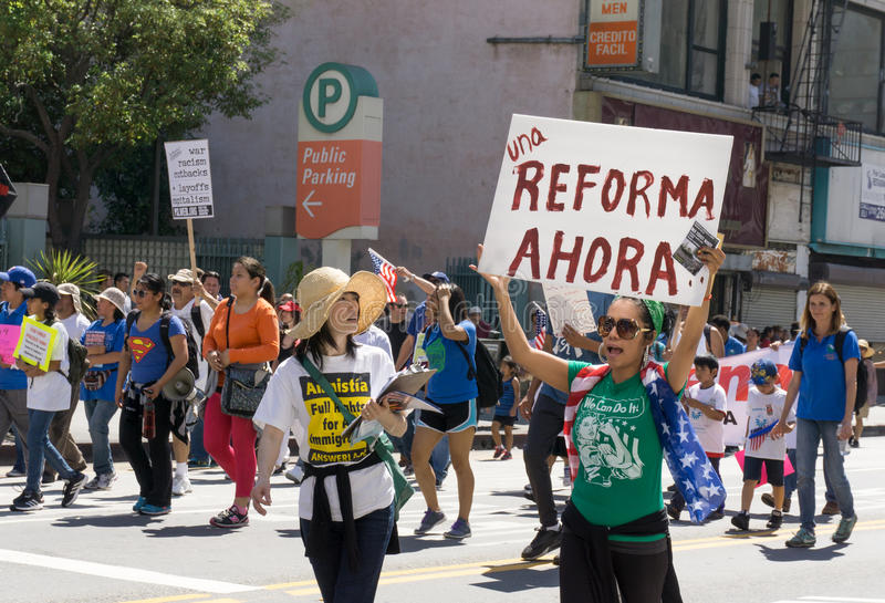 Rassemblement de réforme de l'immigration aux Etats-Unis photo stock