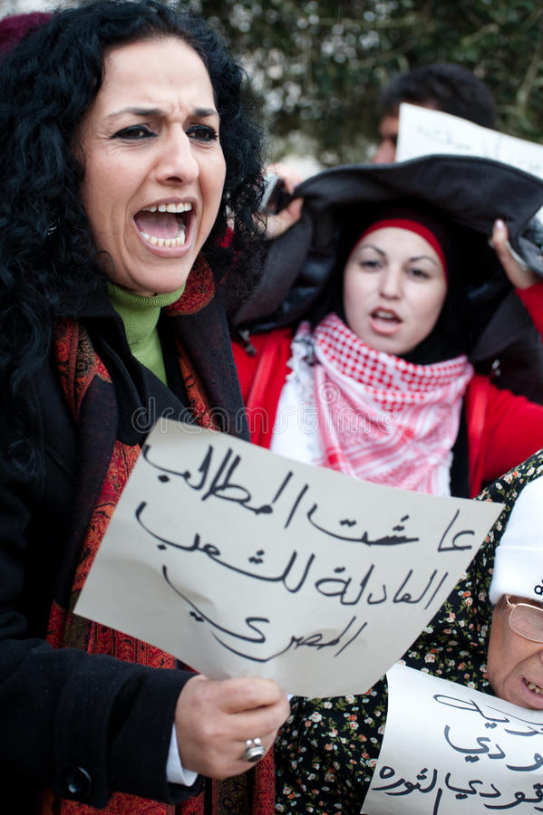 Rassemblement de solidarité de l'Egypte à Jérusalem photographie stock libre de droits