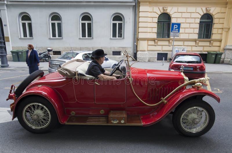 Rassemblement de voiture de vintage photos stock