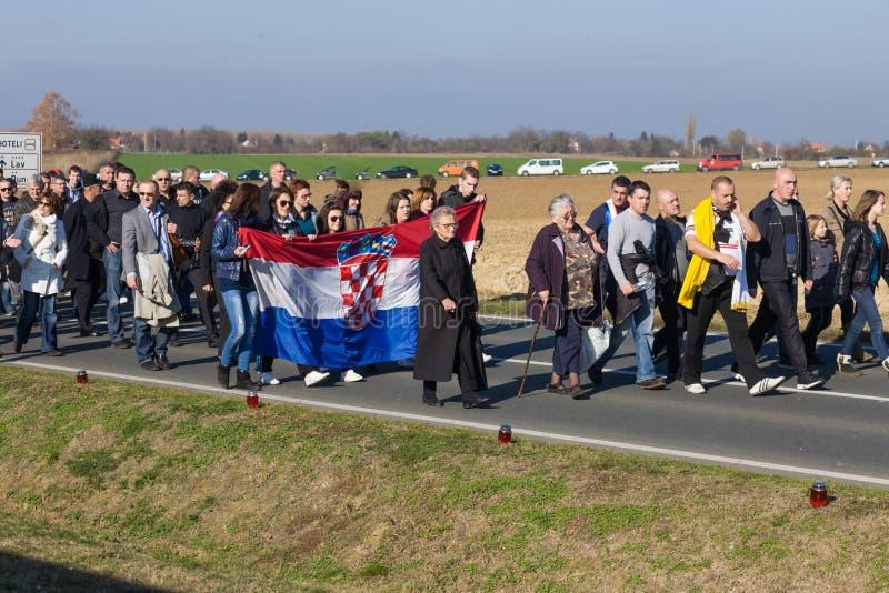 Rassemblement de Vukovar images stock