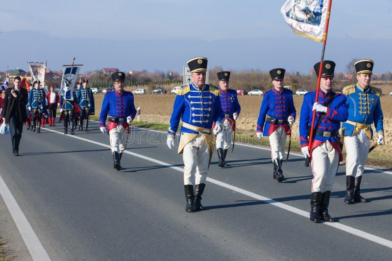 Rassemblement de Vukovar photo libre de droits