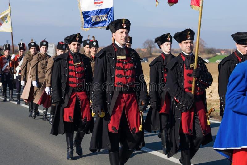 Rassemblement de Vukovar image stock