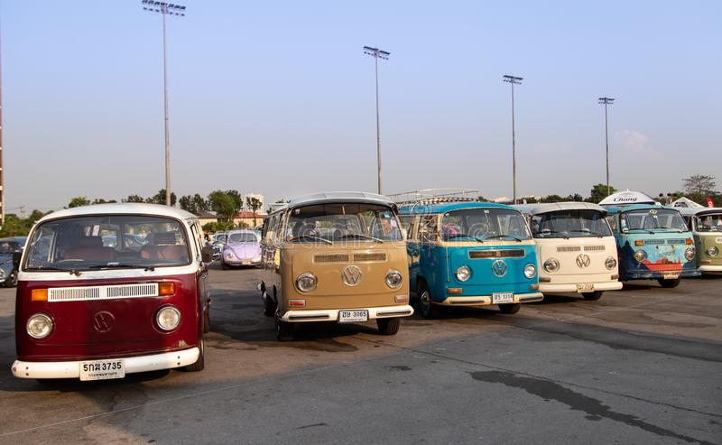 Rassemblement de VW van owners lors de la réunion de club de volkswagen photos libres de droits