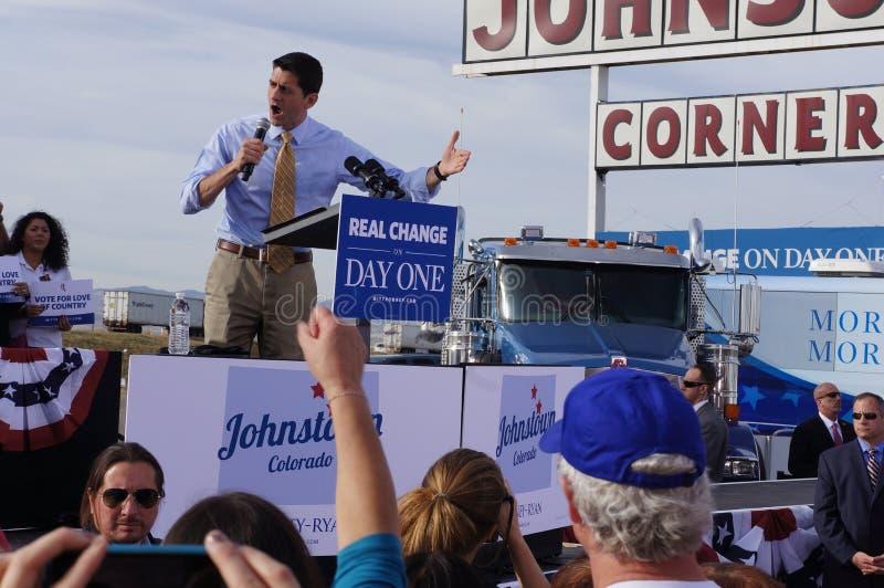 Rassemblement Mitt Romney De Paul Davis Ryan Photographie éditorial
