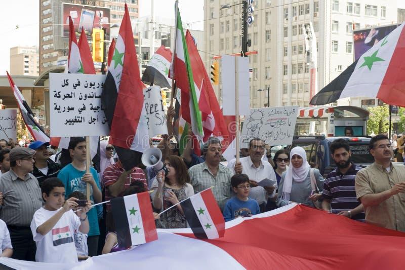 Rassemblement pour la liberté syrienne à Toronto photo stock