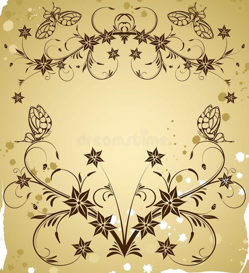 Rassemblez le cadre de fleur illustration de vecteur