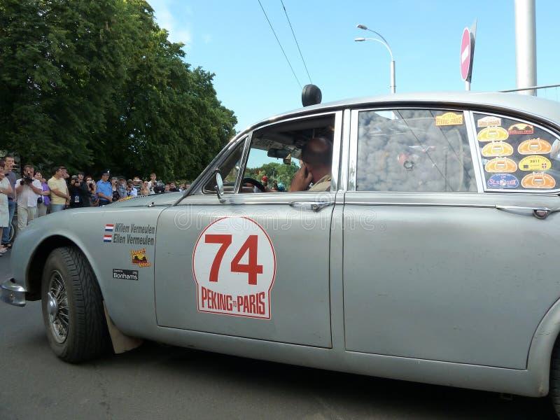 Rassemblez Pékin à Paris 2013, Kharkov, la voiture 74 photo stock
