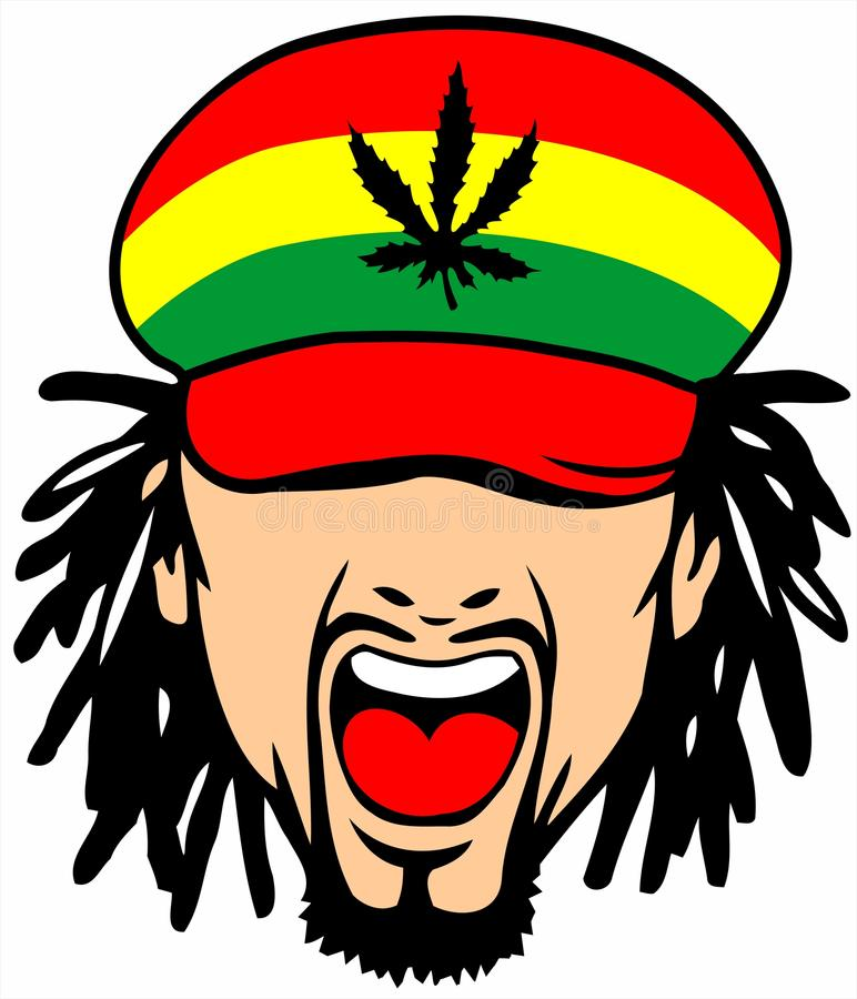 Rastafarian 2: Rasta Illustration Stock. Illustration Du Vert, Crépu