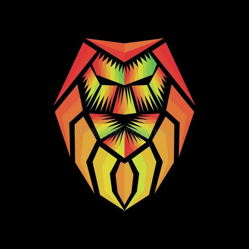 Rasta lion jamaica polygonal vector. Amazing design for your company or brand stock illustration