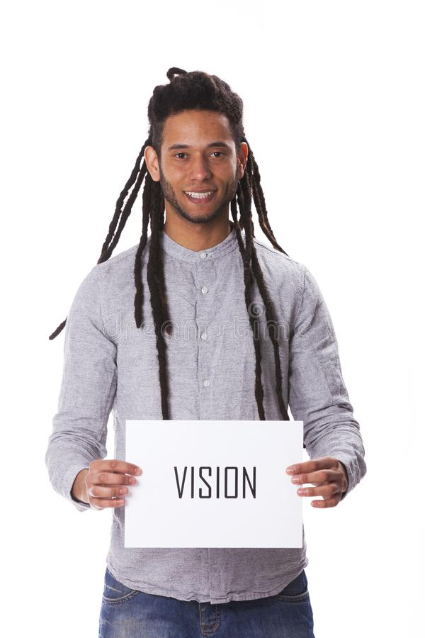 Rastafari jonge mens royalty-vrije stock afbeelding