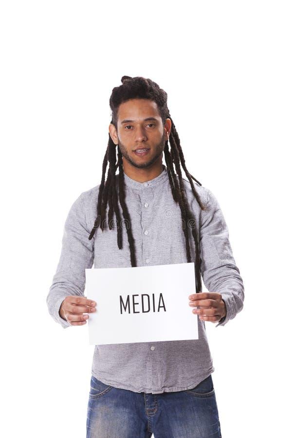 Rastafari jonge mens stock foto