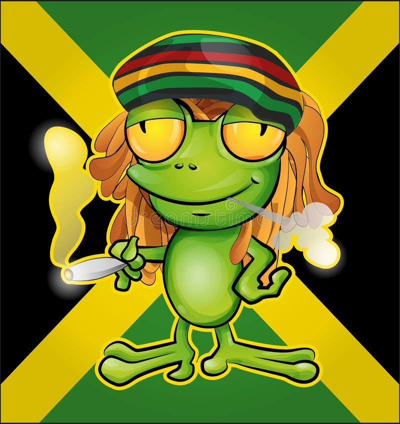 Rastafarian żaba ilustracja wektor
