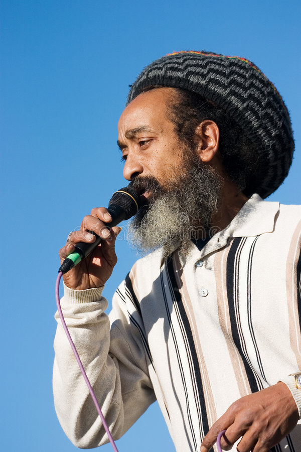 rastafarian певица 2 стоковое фото