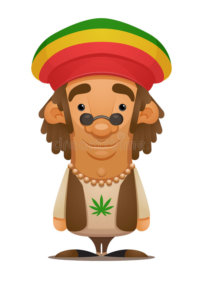rastafarian vektor illustrationer
