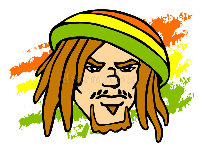 Rastafarian ilustracja wektor