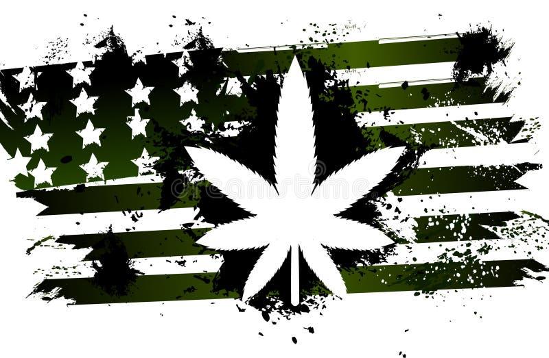 Rastafarian flaga amerykańskiej zieleń royalty ilustracja