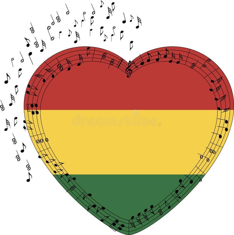 Rastafarian formte Herz stock abbildung