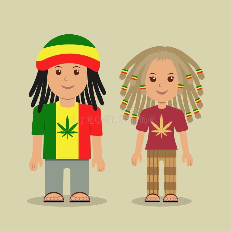 Rastafarian. stock illustration