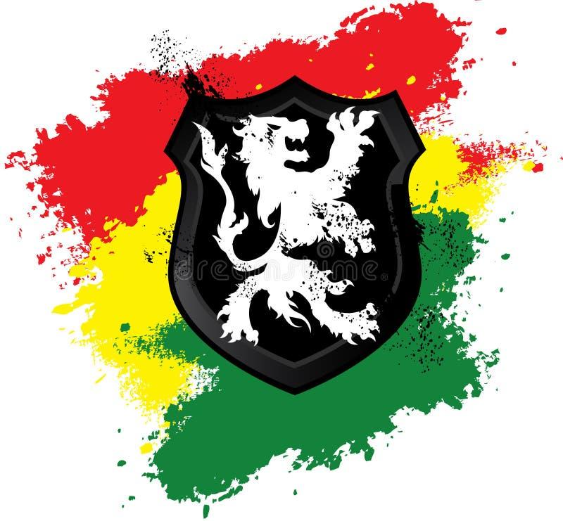 Rastafarian lwa osłona ilustracja wektor