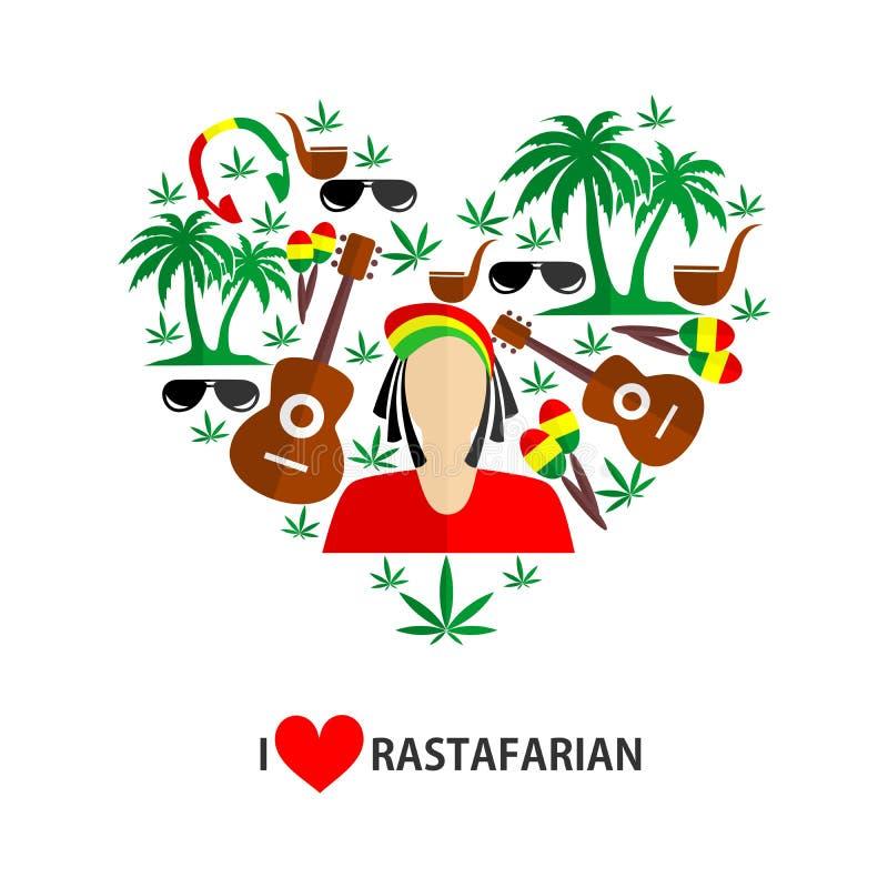 Rastafarian płaski projekt ilustracji