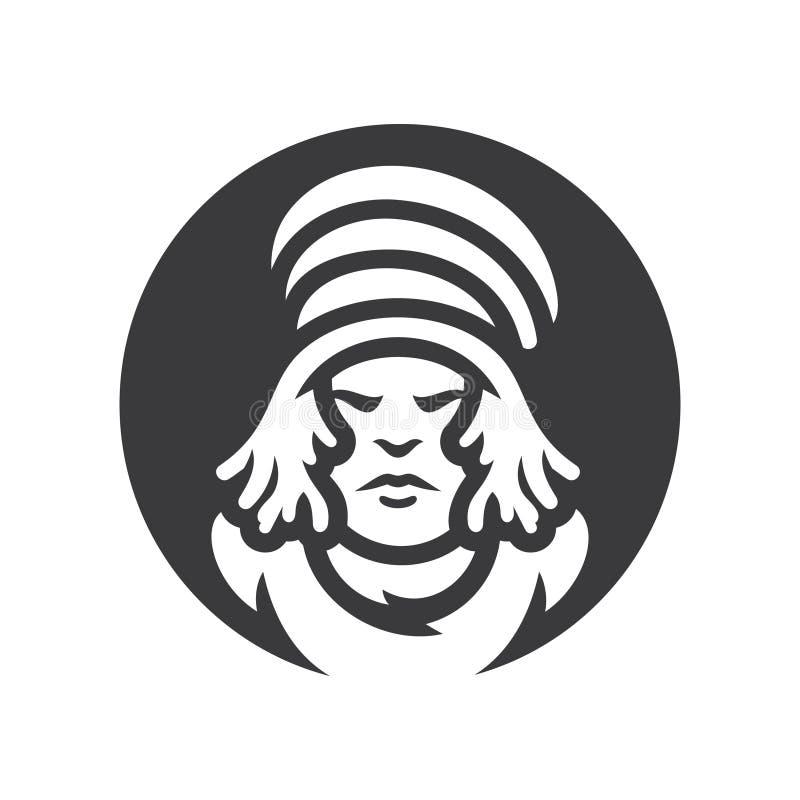 rastafarian Reggaejunge Vektor-Schattenbildzeichen vektor abbildung