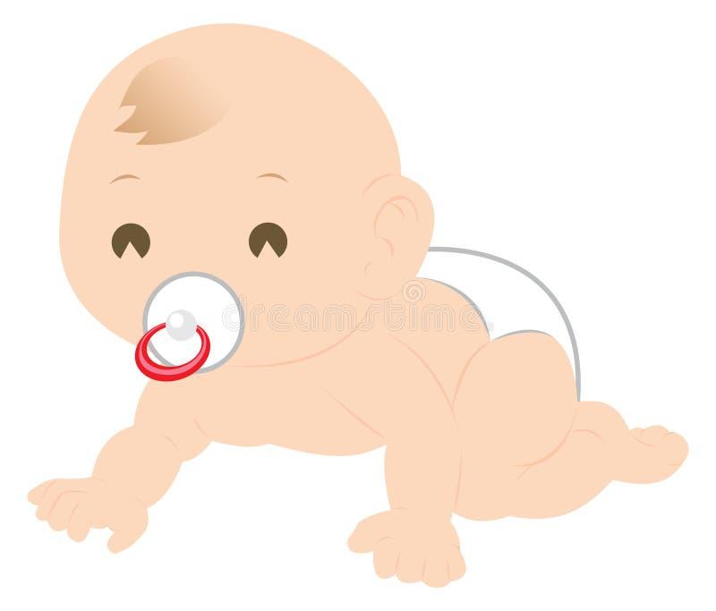 Rastejamento do bebê ilustração stock