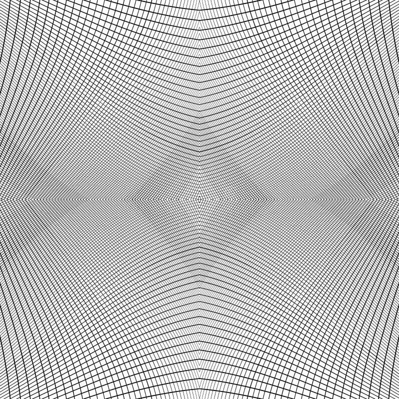 Raster av dynamiska linjer Sömlöst repeatable ingreppsmodell Disto royaltyfri illustrationer