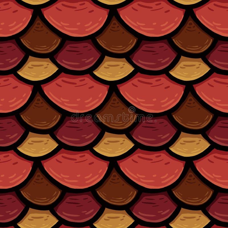 Raster bezszwowa tekstura dachowa pokrywa, płytka z okręgami obraz stock